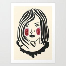 Paper Cut - Woman No. 3 Art Print