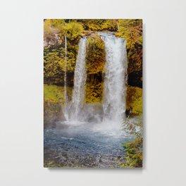 Koosah Falls Autumn Metal Print