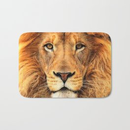 Wild Cat Glare Bath Mat