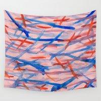 swim Wall Tapestries featuring Swim by Sandra Arduini