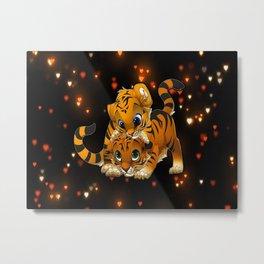 Tiger in Love Metal Print