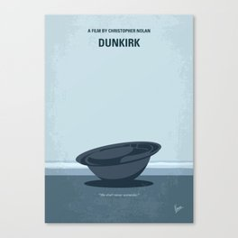No905 My Dunkirk minimal movie poster Canvas Print