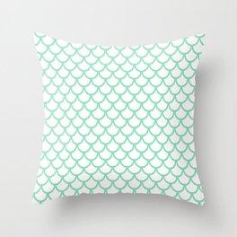 Scales (Mint & White Pattern) Throw Pillow