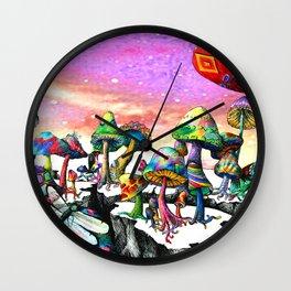 Mushroom Paradise Wall Clock