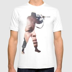 No Peace Mens Fitted Tee SMALL White