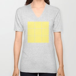 Yellow Squares and Dots Unisex V-Neck