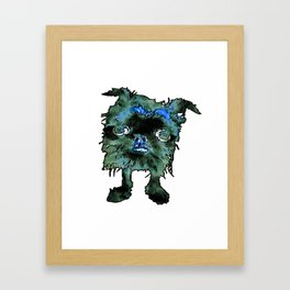 Lugga The Friendly Hairball Monster For Boos Framed Art Print