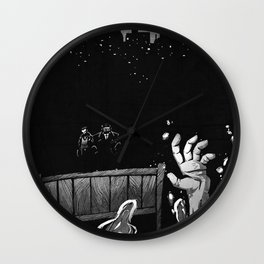 Welcome and Goodbye Wall Clock