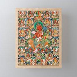 21 Taras Thangka Samantabhadra Varayogini Framed Mini Art Print