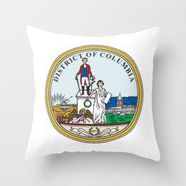 Washington DC Seal Throw Pillow