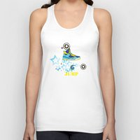 sneaker Tank Tops featuring Jump, Dance, Sneaker, Hip Hop by MiartDesignCreation