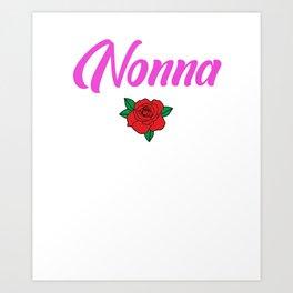 Womens Nonna Grandma Gift design Art Print