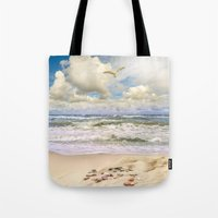 paradise Tote Bags featuring Paradise by RasaOm