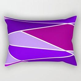 Broken Purple Hues Rectangular Pillow