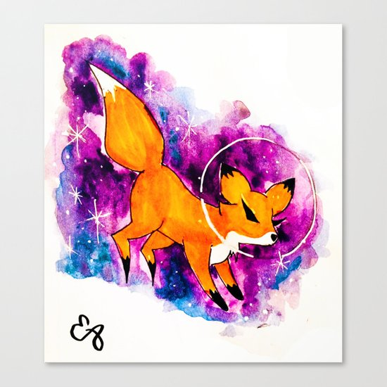 Fox in Space Ver. 5 Canvas Print