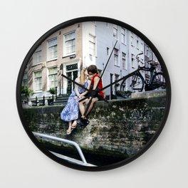 Amsterdam kiss Wall Clock