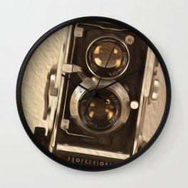 Twin Lens Reflex Wall Clock