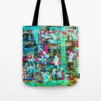 boyfriend Tote Bags featuring BOYFRIEND SWEATS -2- by Glint & Lime Art