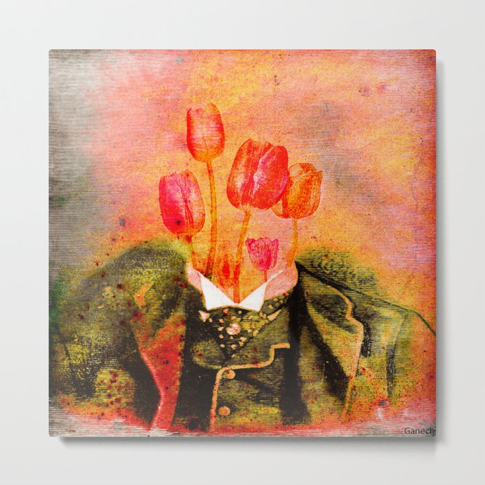 Head of tulip Metal Print