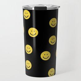 Happy Face - smiley, smiles, happy, emoji, cute, 90s, happy face Travel Mug