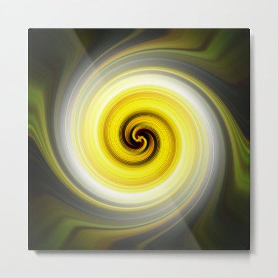 Twirl Yellow Metal Print