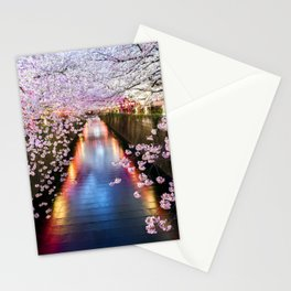 Cherry Blossom in pink   Japan Nakameguro River Stationery Cards