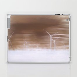 Ghostly wind turbines Laptop & iPad Skin