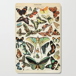 Papillon I Vintage French Butterfly Charts by Adolphe Millot Cutting Board