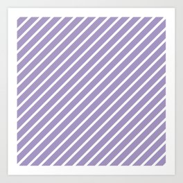 Lavender Tight Stripes Art Print