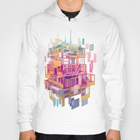 building Hoodies featuring Building Clouds by FalcaoLucas