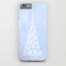 Blue Happy Holidays Christmas Design Slim Case iPhone 6s