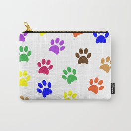 COLORFUL PAW PRINTS Carry-All Pouch