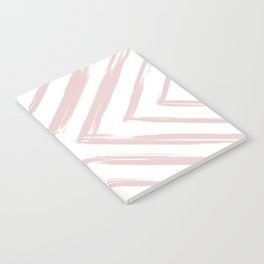 Minimalistic Rose Gold Paint Brush Triangle Diamond Pattern Notebook
