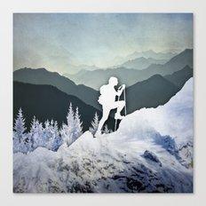 Winter Mountains Canvas Print