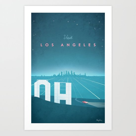 Vintage Los Angeles Travel Poster by wetcake