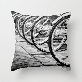 Bike / Black and White / Photography Throw Pillow