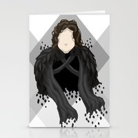 jon snow Stationery Cards featuring Jon Snow by itsamoose