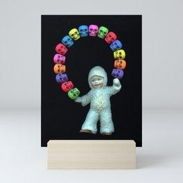 Skulls kid Mini Art Print