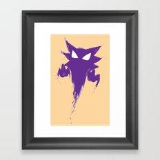 Haunter Splat Framed Art Print