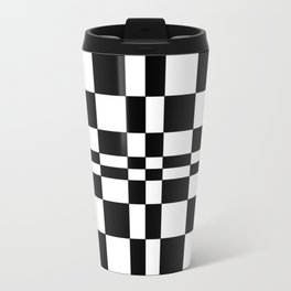 Intersections Black and White Travel Mug