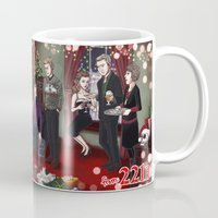 221b Mugs featuring Christmas at 221B by enerjax