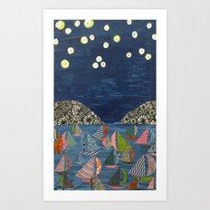 night sailing Art Print