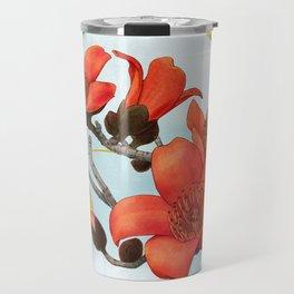Tree Cotton Flower (Common Bombax) Travel Mug