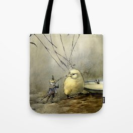 """Bother the Gnat"" by Duncan Carse Tote Bag"
