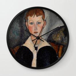 "Amedeo Modigliani ""Boy in Sailor Suit"" Wall Clock"