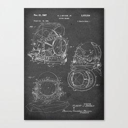 Diving Helmet - Patent #3,353,534 - H. J. Savoie Jr. - 1967 Canvas Print