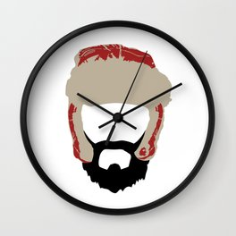 Beards Don't Get Cold Wall Clock
