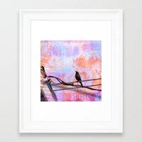 artsy Framed Art Prints featuring Artsy Grackle by Angelandspot