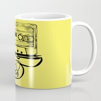 tape Mugs featuring K7 TAPE by Vickn
