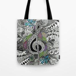Musical Zentangle Tote Bag